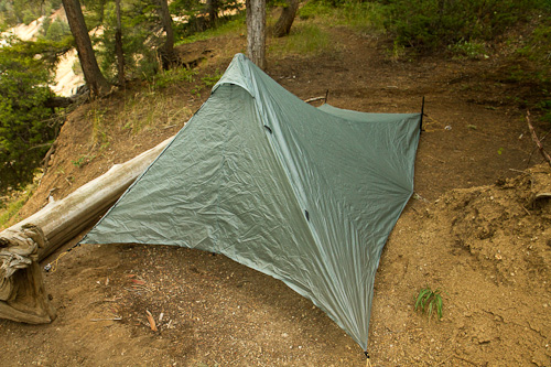 Front quarter view of the Tarp Tent Contrail & Stopping in Every State » TarpTent Contrail review